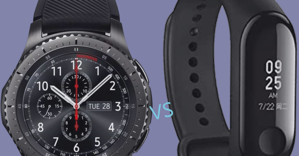 Smart watch (on the left) vs Smart Band (on the right)